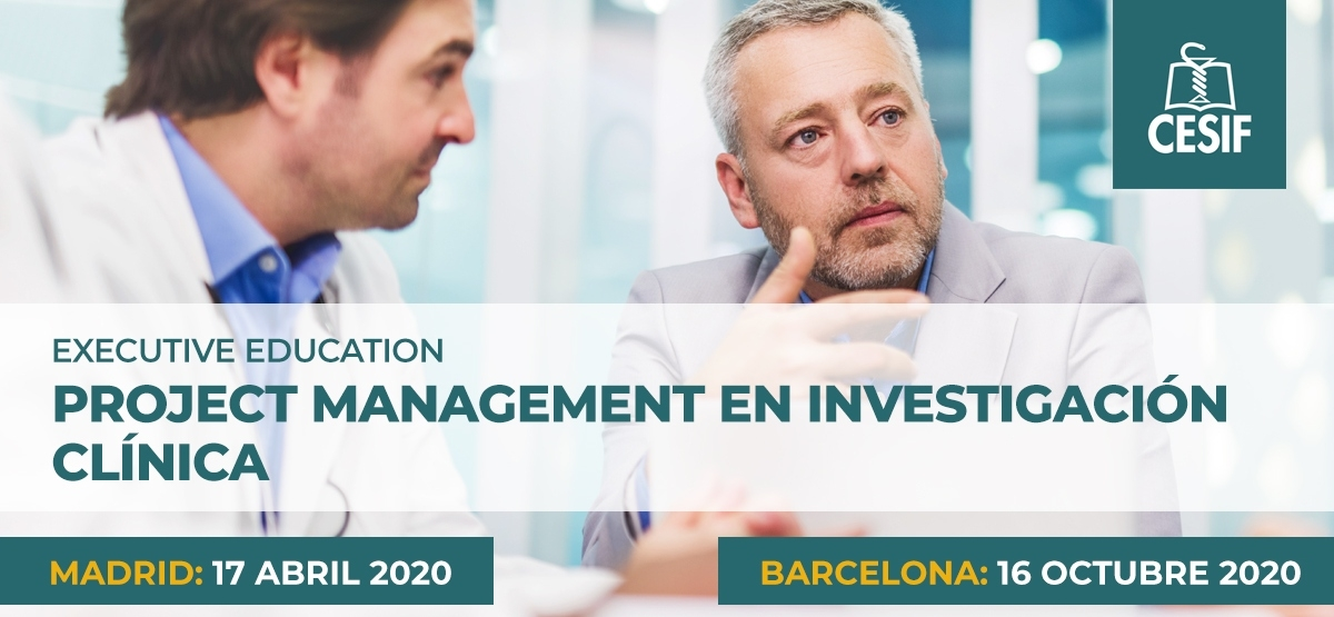 Nueva convocatoria del programa executive en Project Management en Investigación Clínica