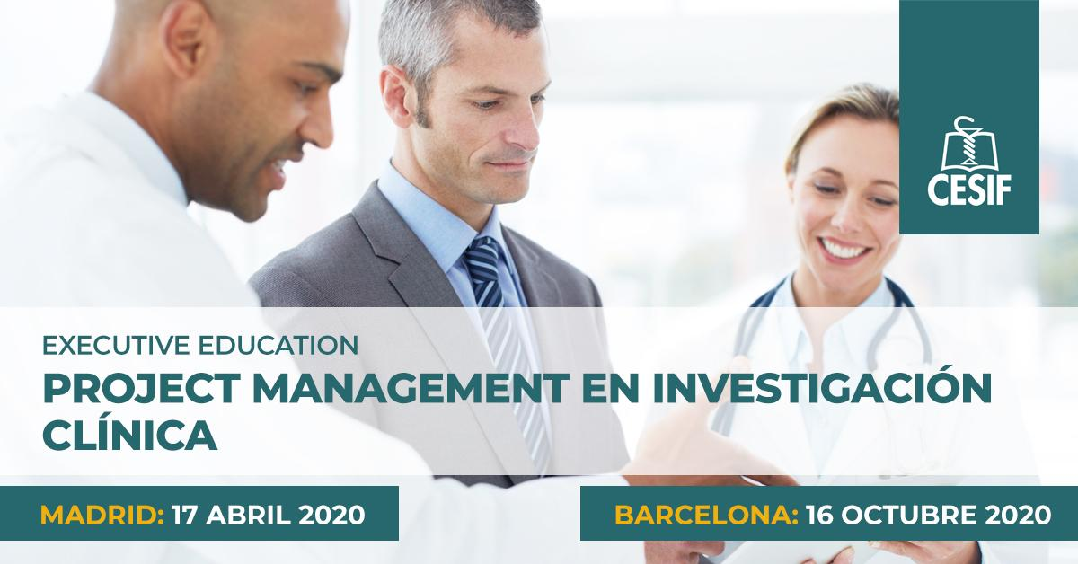project management en investigación clínica CESIF executive