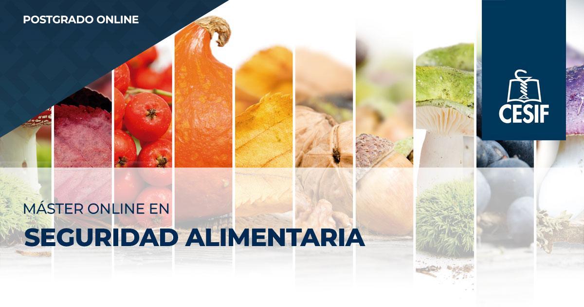 Máster Online CESIF en Seguridad Alimentaria