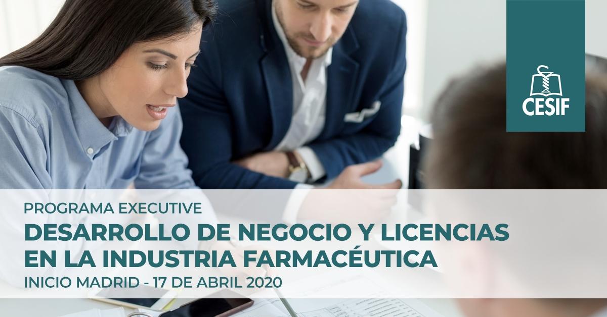 Nueva convocatoria del programa executive de CESIF en Desarrollo de Negocio y Licencias en Industria Farmacéutica