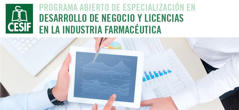 Desarrollo de Negocio y Licencias en la Industria Farmaceutica