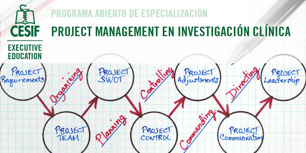 project management investigacion clinica
