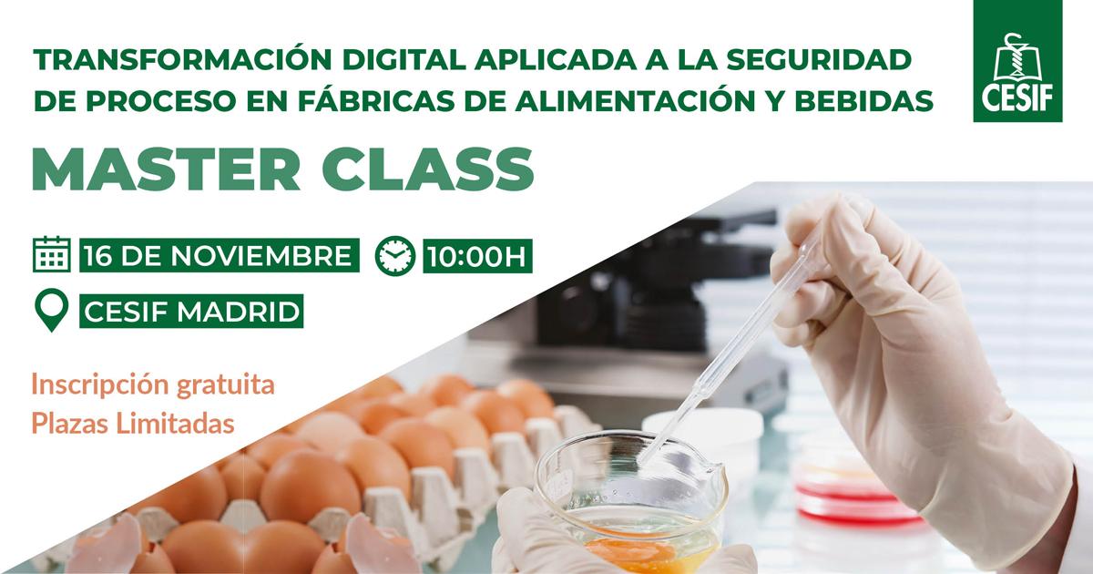 CESIF con la colaboración de SIEMENS y ALCYTA organiza una Master Class sobre Transformación Digital en la Industria Alimentaria